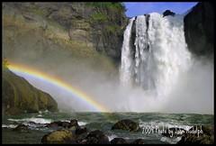 Snoqalmie Falls (John Rudolph Photography) Tags: pentax k200d d18250mm snoqualmiefalls falls water river washington rainbow