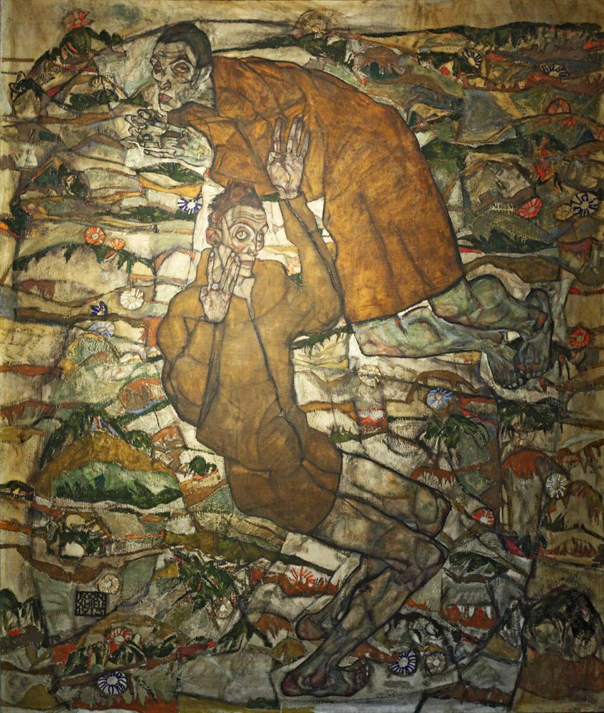 Egon Schiele, Entschwebung (Die Blinden) [Transfiguration (The Blind)], 1915
