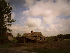 The last day (History Rambler) Tags: old house abandoned home barn rural rust south northcarolina gone southern dozer demolished decayed tinroof crawler tennant saddlebag nashcounty