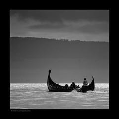 vikings (stella-mia) Tags: bw norway boat vikings viking sh hamar mjøsa 70200mm domkirkeodden hedmarksmuseet canon5dmkii lakemjøsa