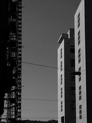 Scaffold. II. Balaton utca. Budapest. 2007. (M. Rasbold-Gabbard) Tags: bw budapest scaffold abstraction constructivism budapestv