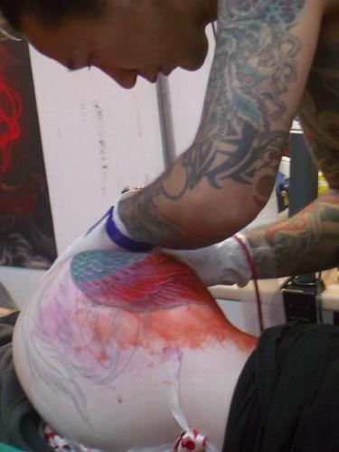 Yellow Blaze Tattoo by junglepunk