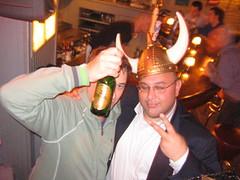 Hiding behind a Viking beer (Seeking Irony) Tags: viking hejhej