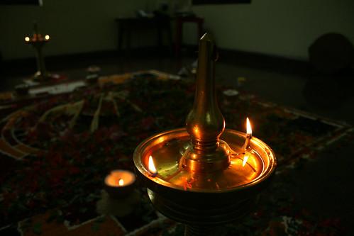 oil lamp. Oil Lamp (Nilavilakku)