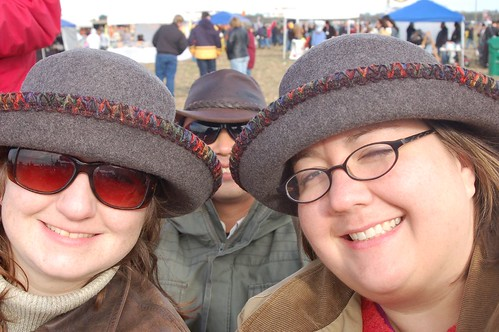 New hats - cause it was cold!!