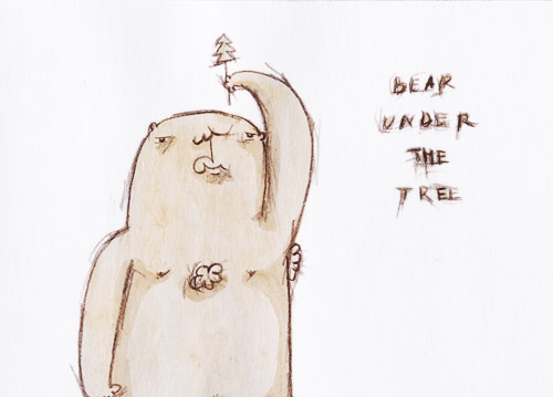 bear under the tree