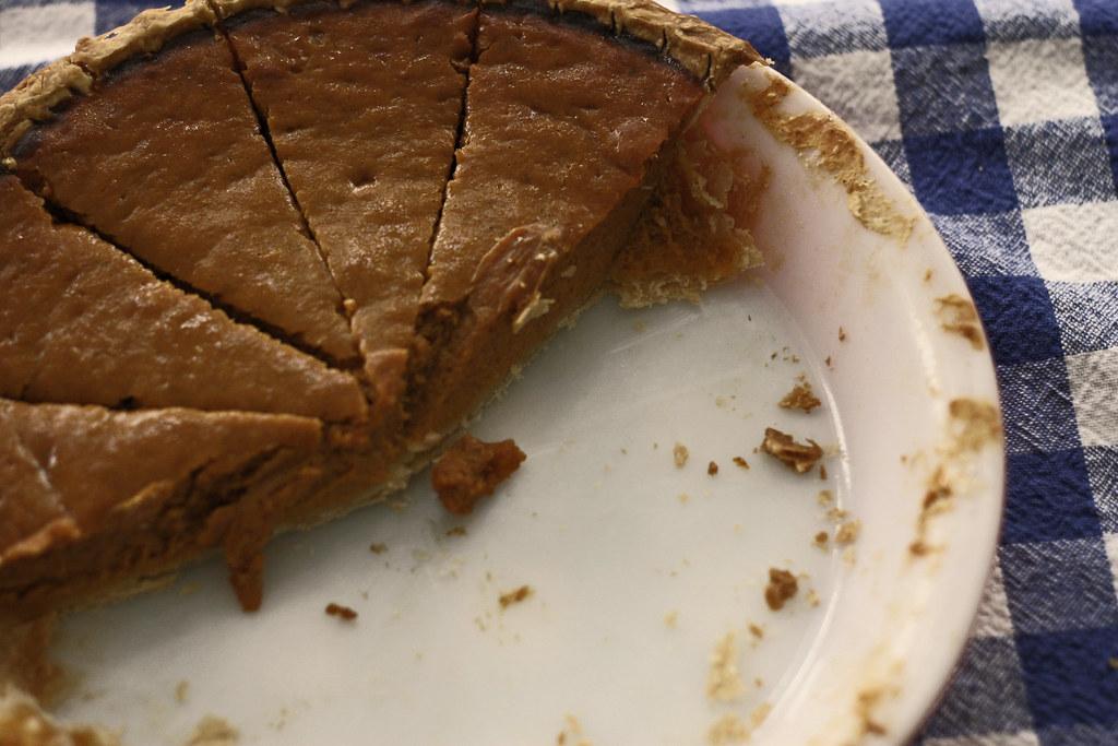 pumpkin pie, 8 am
