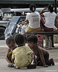Conspiracy (manfrommanila) Tags: poverty street kids youth canon children play homeless young powershot conspiracy bata kalye s3is kahirapan manfrommanila lansangan junbalasbas
