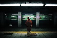 Japanesque (zeissizm) Tags: 20d japan train eos kyoto metro kimono 1022mm keihan