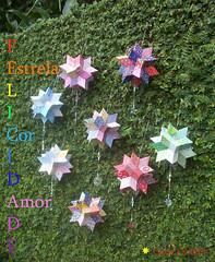*   Giramundo: a Estrela da Felicidade (Carla Cordeiro) Tags: star handmade estrela feitomo felicidade fractal patchwork reciclagem geometria mbile colorido giramundo retalhos linhaeagulha agulhaelinha flordemandacaru estreladafelicidade paninhoestampado