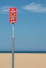Beach Nasty's (ducktourer) Tags: ocean sea summer signs beach graffiti surf waves oz noparking australia surfing centralcoast tagging hodgie ducktourer surfrats