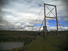 Bridge (skar) Tags: clouds waterfall rocks olye500 oskarbjar e500iceland