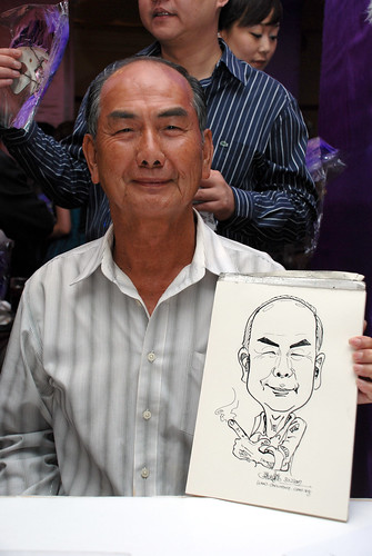 Caricature Singapore Swimming Club NYE 5