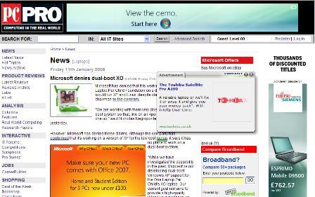 inline text ads
