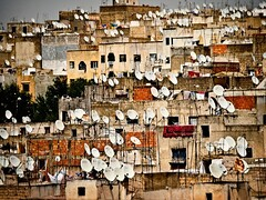We Are Listening (Modest Janicki (Modest and Jill)) Tags: africa travel dish satellite olympus listening morocco fez medina oldtown fes