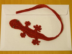 Red gecko bookmark