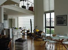 Harley Street Rod @ home (w6zz) Tags: street brazil macro art home yellow brasil architecture loft landscape fun living room harley motorcycle rod inside davidson vrod