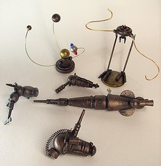 Steampunk Selection of Wood Miniatures (Builders Studio) Tags: wood fiction wild england mars west classic bronze trek comics toy death star robot punk gun ray fighter ship technology geek tech space painted alien victorian engine machine science victoria ufo retro steam queen nasa adventure copper scifi laser rocket pulp jules wars rogers rockets buck brass holmes robotics android martian droid geekery bot raygun invaders sherlock satelite robo automaton adventurer steampunk verne
