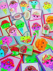 The Scoop Troop (boopsie.daisy) Tags: people silly color cute colors yummy rainbow colorful candy handmade ooak stock adorable nerds sprinkles marshmallows icecream characters scrumptious product licorice plaques creations curlers boopsiedaisy