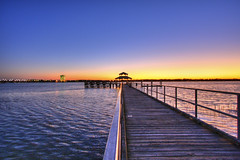 Sunset at Brittlebank Pier (Erik Holmberg) Tags: ocean wood sc water river pier south southcarolina charleston carolina hdr brittlebank