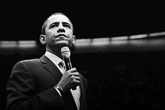 Senator Barack Obama (Justin Goode) Tags: justin bw white black film reunion dallas bush nikon texas senator clinton president rally arena views diafine candidate portfolio n80 campaign ilford obama soe inauguration iso1600 1000views develop 40000 barackobama barack delta400 goode 24120mmf3556gvr cotcmostinteresting blackwhitephotos presidentialrace anawesomeshot onlyyourbestshots presidentelect allxpressus overtheexcellence wwwjustingoodephotographycom wwwgoodephotographybiz