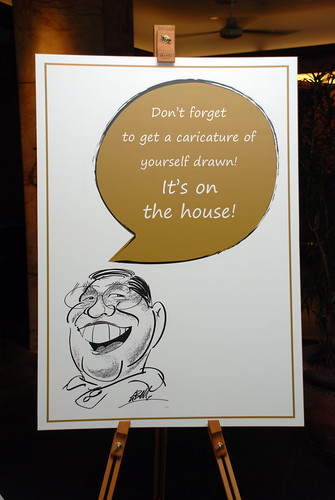 Caricature Christopher Tan 60th birtyhday party 9
