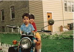tough guy (saltsoda) Tags: chicago david me childhood bike brother scan motorcycle karlov