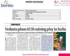 2008-04-03,The Economic Times-Vedanta plans $15b mining play in India