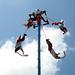 Voladores de Papantla en Tulum