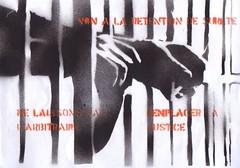 pochoir contre la rtention de suret (SpUtNik 23 -RUR und MKZ) Tags: france de justice stencil prison jail 23 sputnik militant injustice pochoirs retention genepi mkz uniscit suret kromignons makizarde