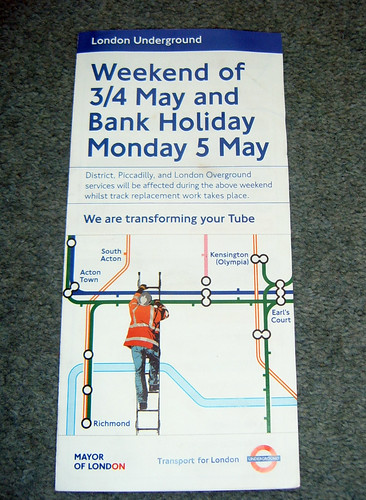 Weekend Transforming your Tube leaflet
