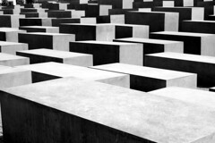 Memorial to the Murdered Jews of Europe in Berlin, Germany (Tobi_2008) Tags: bw berlin germany deutschland schwarzweiss allemagne holocaustmemorial supershot mywinners abigfave platinumphoto anawesomeshot theunforgettablepictures artlegacy hccity