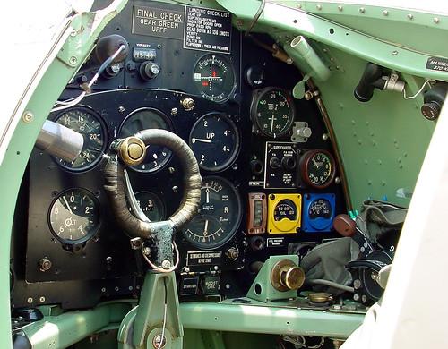 Warbird picture - Spitfire Cockpit