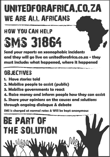 Report South African Xenophobic Attacks via SMS