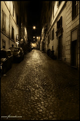 Street of Italy (Faiz) Tags: street nightphotography trip travel summer italy rome architecture landscape europe tour sephia nightstreet leadinglines streetofitaly dragonsdanger
