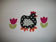 galinha bolas (Ka Comelli) Tags: galinha bolas preta patch cozinha aplique