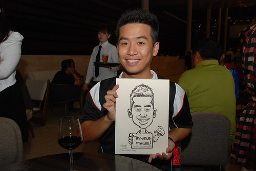 Caricature live sketching for Tetra 60th Anniversary - 12
