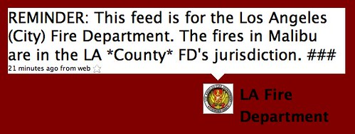 Twitter / LA Fire Department: REMINDER: This feed is for ...