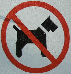 no scotties - rotties welcome? (Foot Slogger) Tags: red dogs animals sign stmarys almostsquaredcircle