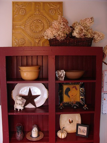 Vintage Red Cupboard