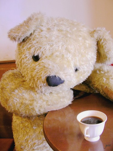 afternoon tea, bear waitting for you