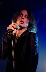 H.I.M. (meg bourne) Tags: show lighting blue light color colour colors vancouver pose him lights concert colours bright expression cigarette smoke gig band smoking his venue ville bluelight majesty infernal valo villevalo cigarettesmoke hisinfernalmajesty