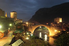 Mostar at Night (LionTX) Tags: world longexposure bridge heritage night site mostar bosnia canoneos20d unesco herzegovina canonef1740mmf4lusm