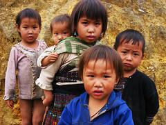 Kids with kids. (gumississy) Tags: kids trekking children play vietnam sapa taphin journe
