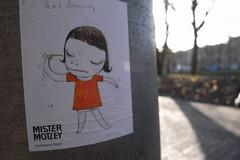 Yoshitomo Nara sticker in Utrecht