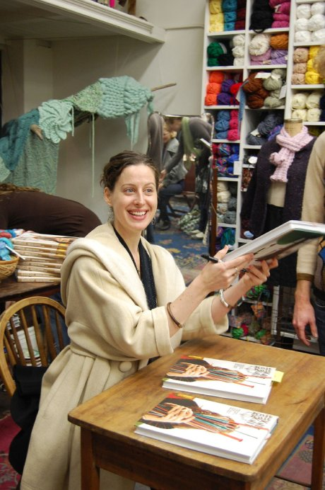 Sabrina Gschwandtner at the KniKnit book signing