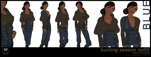 [MG fashion] Hunting Season Outfit - blue