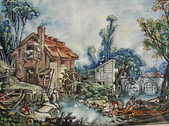 Francois Boucher's 'Landscape with a Watermill'. (davidezartz) Tags: bridge blue trees light boy red chimney brown white black paris france green london art mill girl animals wheel yellow fence river painting french landscape grey fishing nikon stream artist shadows flock wing bank nationalgallery loveit painter laundering watercolour gouache asymmetry picturesque copy soe milkmaid watermill boucher rococo doves pail charenton e3100 artisticexpression francoisboucher herdsman supershot nikone3100 bej nikonstunninggallery mywinners aplusphoto diamondclassphotographer flickrdiamond theunforgettablepictures overtheexcellence theperfectphotographer goldstaraward landscapewithawatermill quinquengrogne 17031770