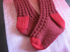 Openwork Rib Toddler socks