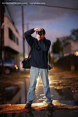 A fellow photographer (Konstantin Sutyagin) Tags: twilight alley photographer dusk hobby rainy shooting mailciler
